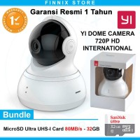Xiaomi Yi Dome Camera 720P Smart CCTV IP Camera Bundle SanDisk 32GB