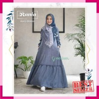 Rania dress gamis linen look busui original GREENISM