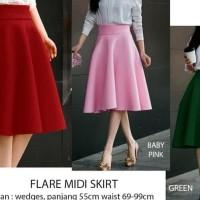 Elena Skirt ( Midi Flare Skirt )