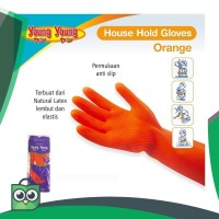 YOUNG YOUNG Latex Gloves IL SARUNG TANGAN 7.5INCH Karet Rubber -