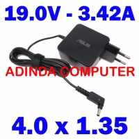 ORIGINAL Adaptor Charger Laptop Asus 19v 3 42a 4 0MM 1 35MM DC Kecil