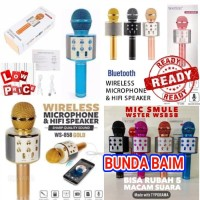 WS858 MICROPHONE BLUETOOTH / WSTER WS-858 MIC KARAOKE WIRELESS KTV