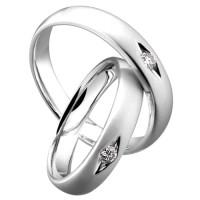 cincin couple perak asli dengan kadar murni serta diamond tampil elega