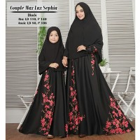 Busana Muslim Wanita Gamis Syari Couple Ibu dan Anak Sephia Terbaru