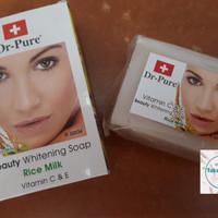 Sabun batang DR PURE Beras (Facial Wash)