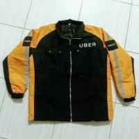 Harga jaket motor jaket uber warna oren atribut | Pembandingharga.com