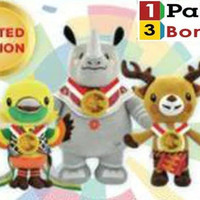 Boneka Maskot Asian Games with Medali Gold 12 inch (komplit)