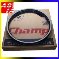 VELG RACING W6D MERK CHAMP SPAREPART VARIASI MOTOR RING 17 140 BLACK