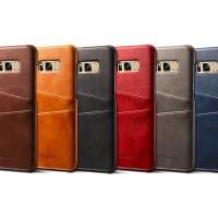 Premium Card Slot Leather Case Samsung Galaxy S8 Casing HP Kulit