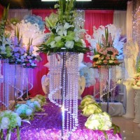 Candle Holder Flower Holder Silver Crystal Centerpiece - Height 110cm