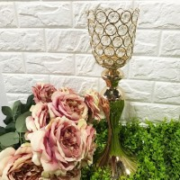 Vase Bunga Gold Crystal Mermaid Vase - Height 37cm Tempat Bunga DISKON