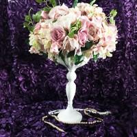 Vas Bunga White Bowl Centerpiece Pot Tanaman Tempat Bunga DISKON