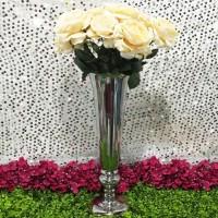 Vas Bunga Tempat Bunga Trumpet Silver Vase Height 54cm Dekorasi Pesta