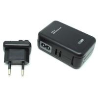 Thunder Traveler Charger 4 USB Port 5V 2A with Single EU Plugs HITAM
