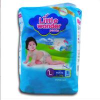 Harga little wonder pants diapers size l isi 8 pcs popok perekat celana | Hargalu.com