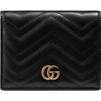 GG Marmont Leather Card Holder Gucci