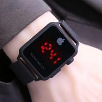 Jam Tangan Pria / Wanita iphone LED SK760 Rubber Full Black