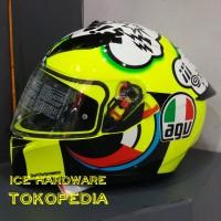 Helm Motor Full Face Fullface AGV K3 SV Rossi VR46 Misano Original