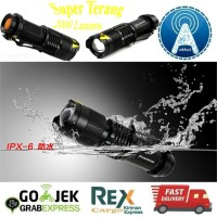 Pocketman Senter LED 2000 Lumens 3 Modes Waterproof Super Terang