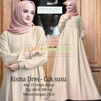RISMA DRESS COKSU 100/140ALLSIZE Gamis ITCrepe Busui Ori NAU