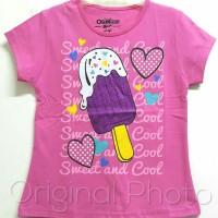 Baju kaos karakter anak perempuan oshkosh ice cream 1-6