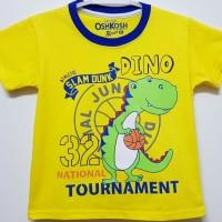 Baju kaos karakter anak laki-laki dino kuning 1-6