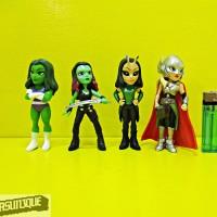 Action Figure Superheroes Marvel Cewek isi 4 Loose