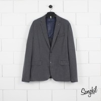 Mango Man Stuctured Blazer Regular Fit Dark Grey