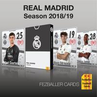 Fezballer Cards kartu bola edisi REAL MADRID La Liga season 2018/2019