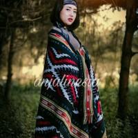 Kain tenun ikat blanket etnik toraja original handmade TB113