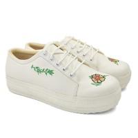Sepatu Wanita Model Terbaru Putih Trendy - Sepatu Casual Sneakers jv