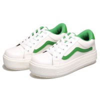 Sepatu Distro - sepatu casual sneaekr wanita putih cantik - main - bsm