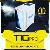 CASING PC / KOMPUTER GAMING ARMAGGEDON T1G WHITE / PUTIH