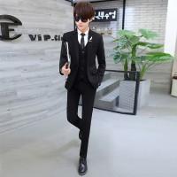 Fashion trendy- Jas Pria Style Korea Black Trendy Cool
