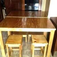 meja makan kayu jati belanda