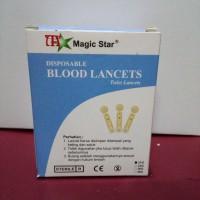 Jarum Bekam/Blood Lancets Magic Star 21G