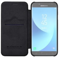 New Flip Cover HP SAMSUNG Galaxy J7 Pro Flip Leather Cover NILLKIN QI