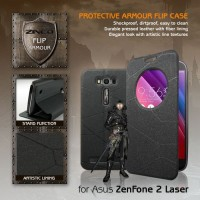 New Flip Cover HP Asus Zenfone 2 Laser Window Leather Flipcase Cover