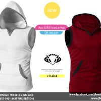 Ace Solid Hoodie Vest