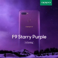 Hp Smartphone Oppo F9 Ram 4gb Rom 64gb Resmi indonesia - Starry Purple