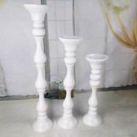 Vas Bunga Tempat Lilin White Column Vase - Height 50cm Flower Holder