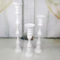 Flower Holder White Column Vase - Height 65cm Candle Holder DISKON