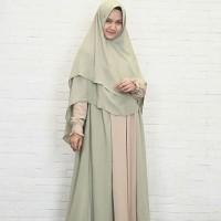Hijab Alila - Gamis Fitri Melon