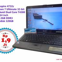 Laptop Bekas Acer Aspire 4732z 14 inch Dual Core T4300 Ram 2GB