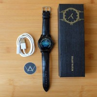 JUAL Smartwatch Lemfo K88h Leather Strap