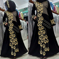 abaya/gamis/jubah/dress bordir adzkia