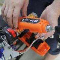 GRIPLOCK /CAPSLOCK KUNCI GEMBOK PENGAMAN STANG MOTOR - ANTI MALING