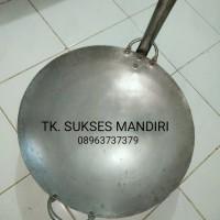 KUALI BAJA BESAR PUTI 45cm kwali kuwali wajan penggorengan nasi goreng