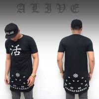 Kaos fregie original edisi alive - kaos longline tangan pendek