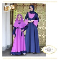 Couple 40 Navy by ETHICA Gamis Anak size No. 1